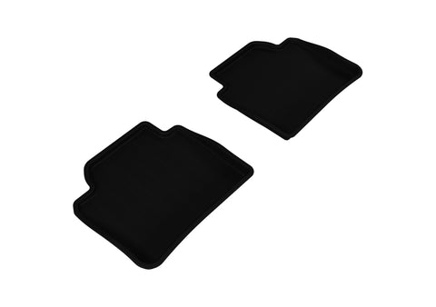 3D MAXpider 2012-2020 BMW 3 Series/4 Series Gran Coupe F30/F36 Kagu 2nd Row Floormats - Black