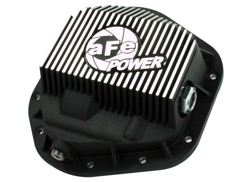 aFe Power Front Differential Cover 5/94-12 Ford Diesel Trucks V8 7.3/6.0/6.4/6.7L (td) Machined Fins