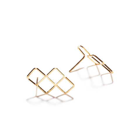 Square Cluster Earring