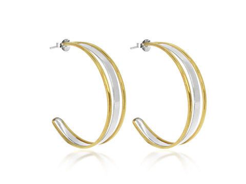 Sequence Hoop Earring