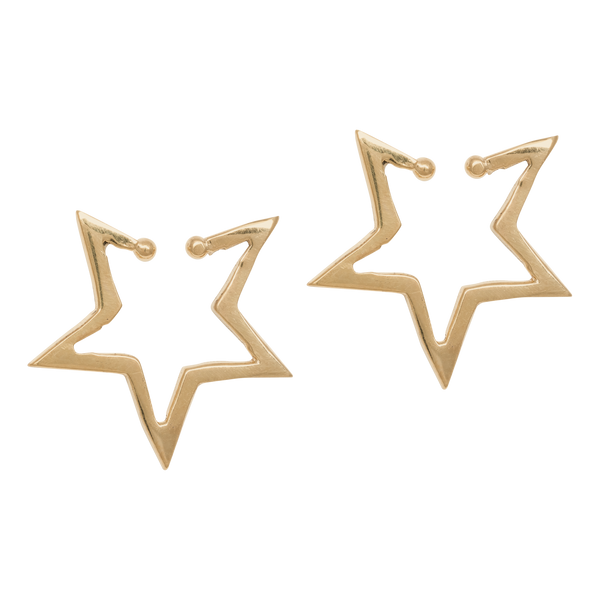 Single Star Ear Cuff - Gold