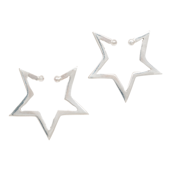 Single Star Ear Cuff - Silver