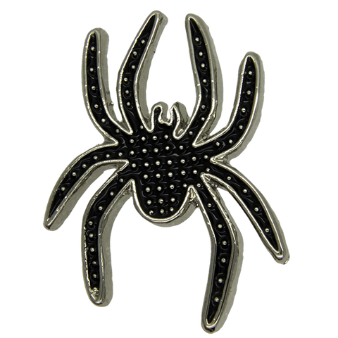 Spider Pin, Black/Silver