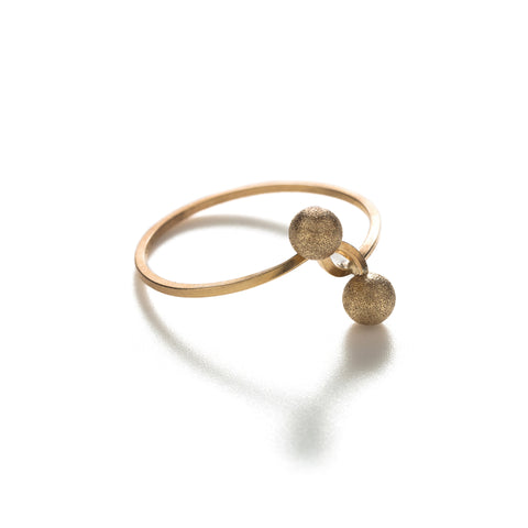 Knotted Gold Dust Ring
