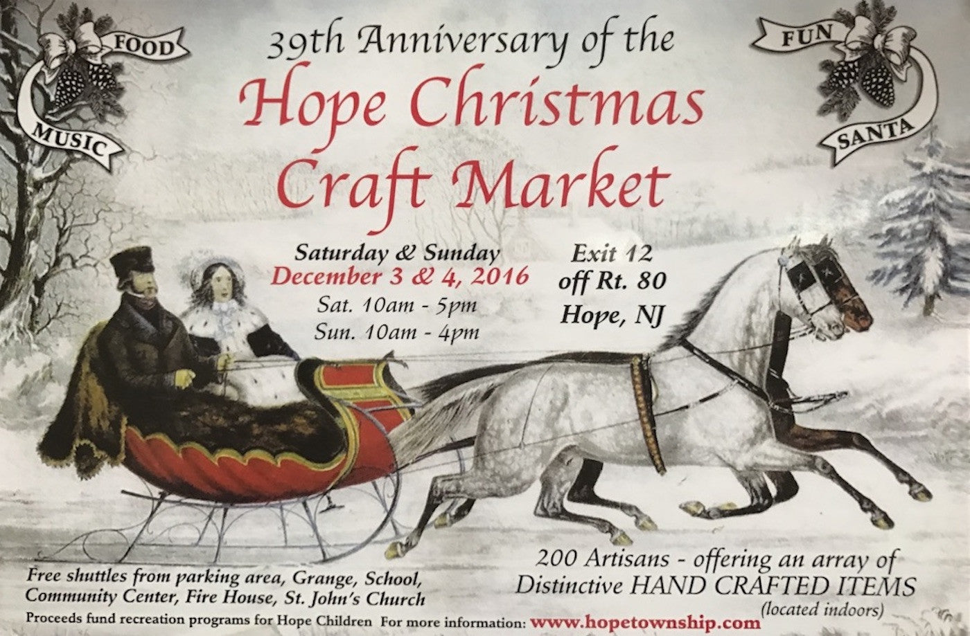 Come Visit us on December 3rd & 4th at the Hope Christmas Craft Market!
