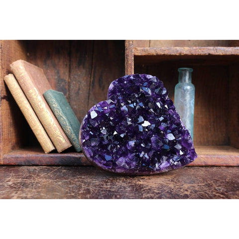 Black Amethyst Heart Shaped Cluster
