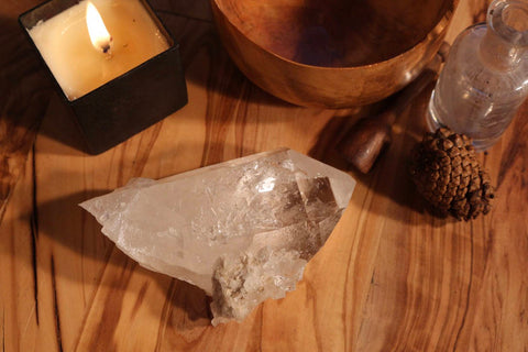 Large Clear Quartz Point Cluster 4.50""