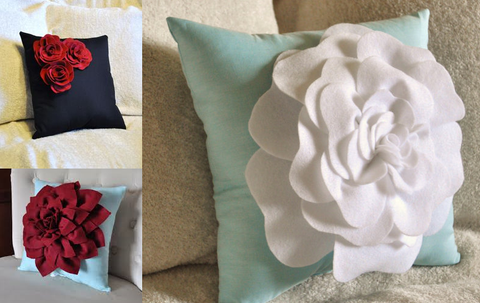 Decorate Toss Pillows Using Silk Flower Petals