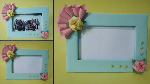 Make a Picture Frame With Cardboard and Ribbons