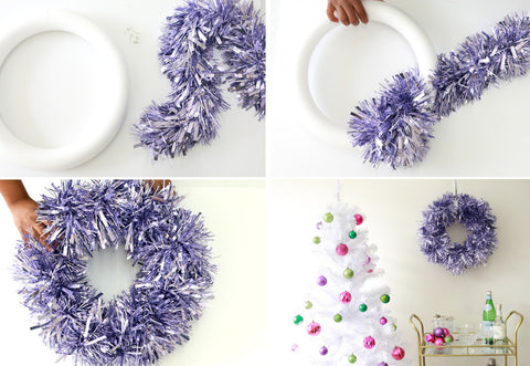 4 Easy Steps to Make a Ribbon Wreath for Winter Décor