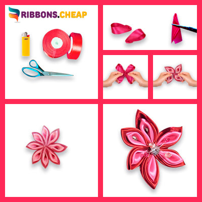 How to make Kanzashi Flower