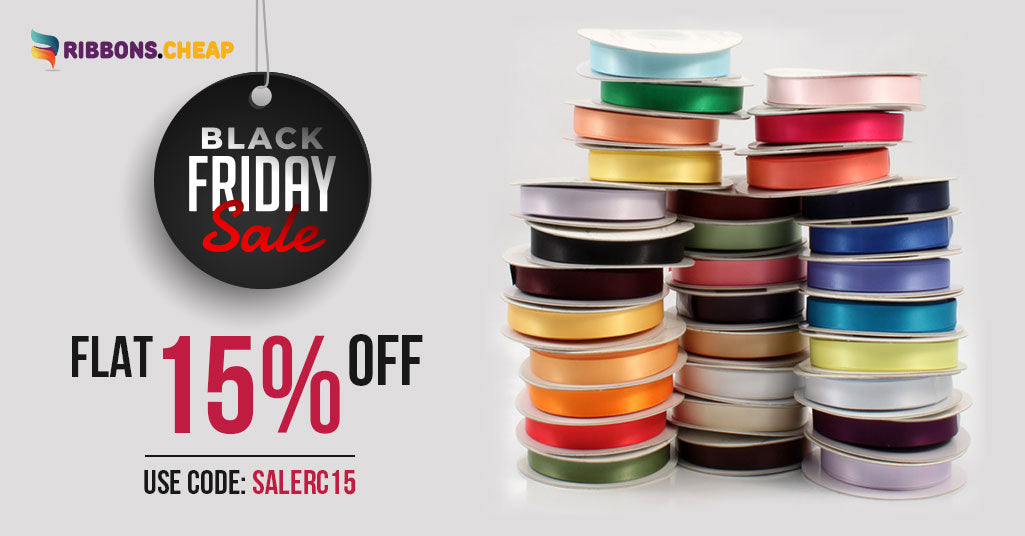 Grab 15% Off at Ribbons.Cheap on Black Friday Sale