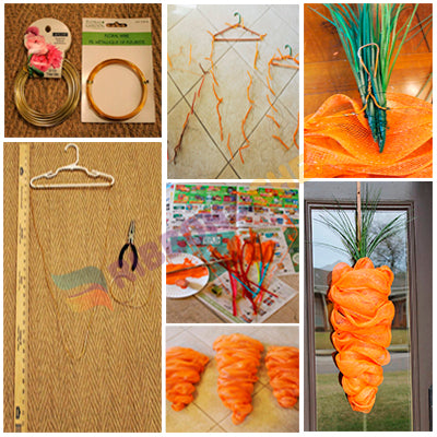 How to Make Deco Mesh Carrot 1