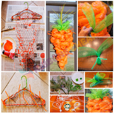 Make Deco Mesh Carrot