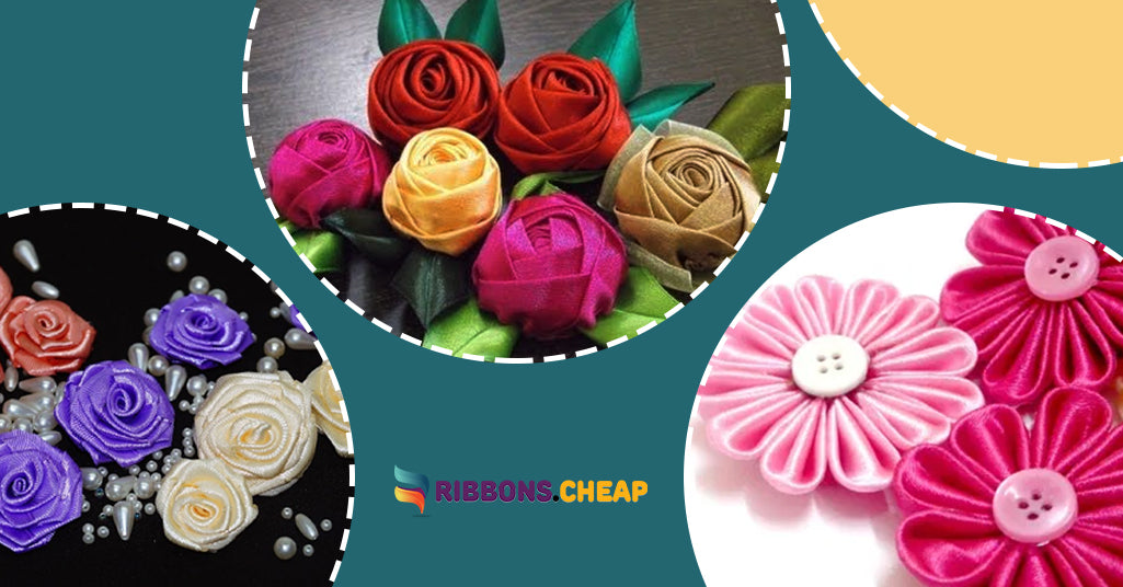 3 Quick and Easy Methods for Making Satin Ribbon Rose