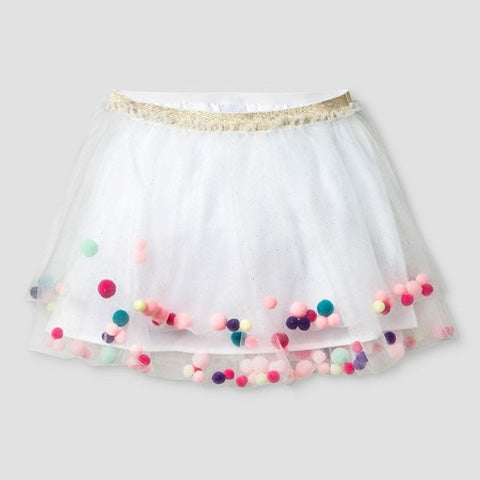 DIY Pom Pom Tutu Skirt with Tulle Fabric