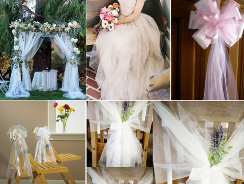 tulle and ribbons decoration