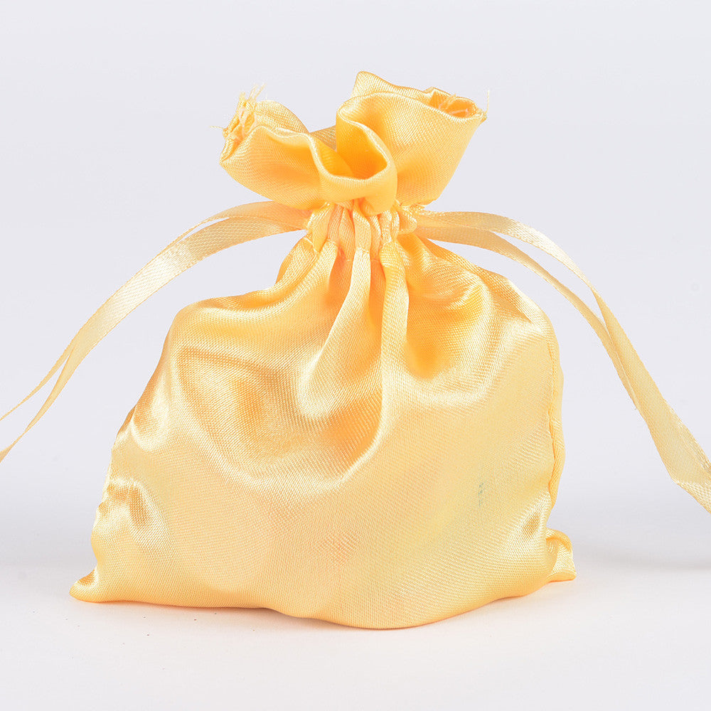 Satin Bags Gold ( 3x4 Inch - 10 Bags ) -