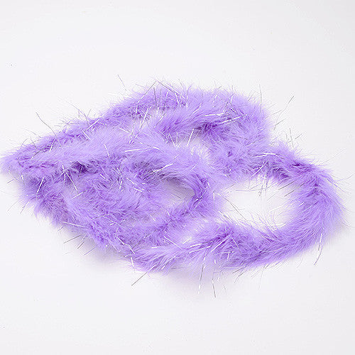 Mini Feather Decorations Lavender Metallic ( 2 Yards Boa )