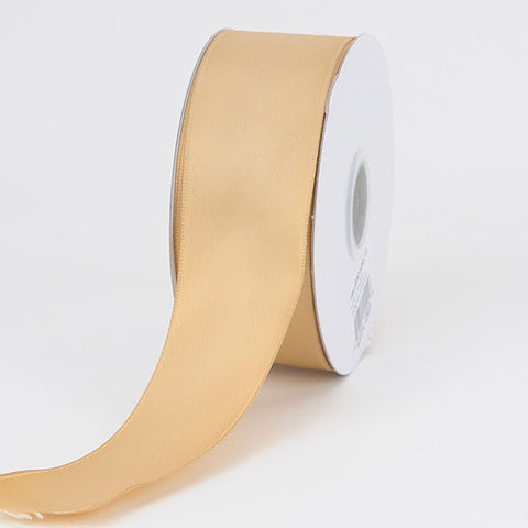 Satin Ribbon Wire Edge Old Gold ( W: 1-1/2 inch | L: 25 Yards ) -