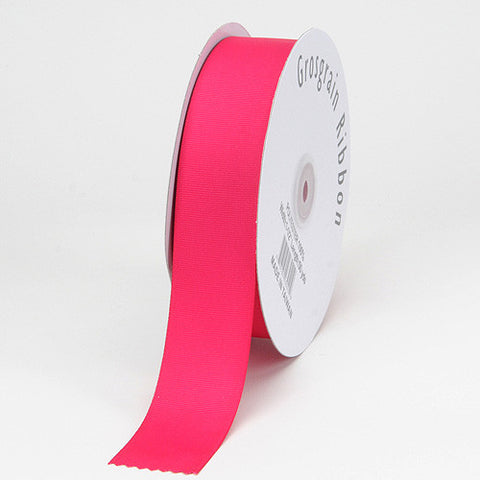 Grosgrain Ribbon Matte Finish Fuchsia ( 1/4 inch | 50 Yards ) -