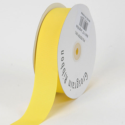 Grosgrain Ribbon Solid Color Canary ( W: 3/8 inch | L: 50 Yards ) -