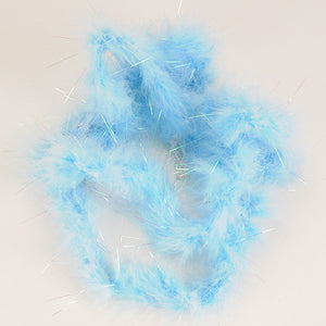 Mini Feather Decorations Light Blue Iridescent ( 2 Yards Boa ) -