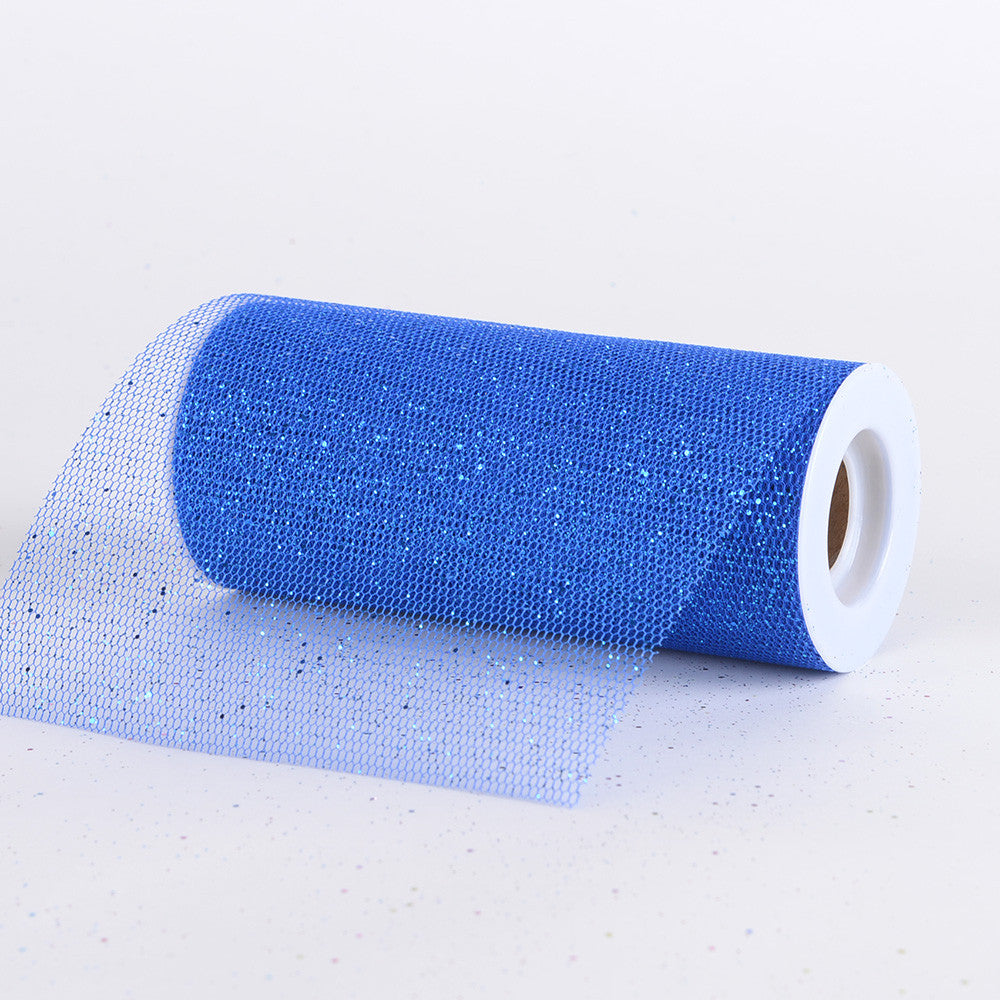 Premium Glitter Net Royal Blue ( W: 6 inch | L: 10 Yards ) -
