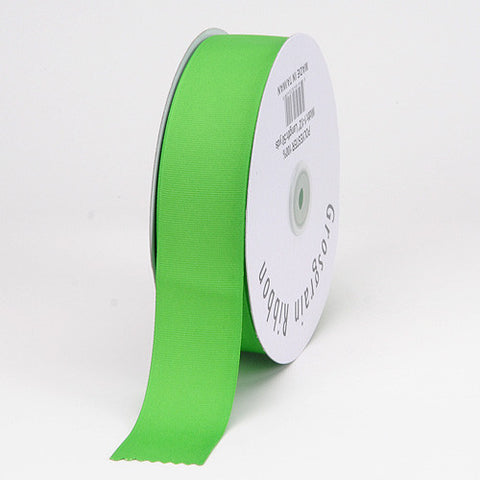 Grosgrain Ribbon Matte Finish Apple Green ( 1/4 inch | 50 Yards ) -
