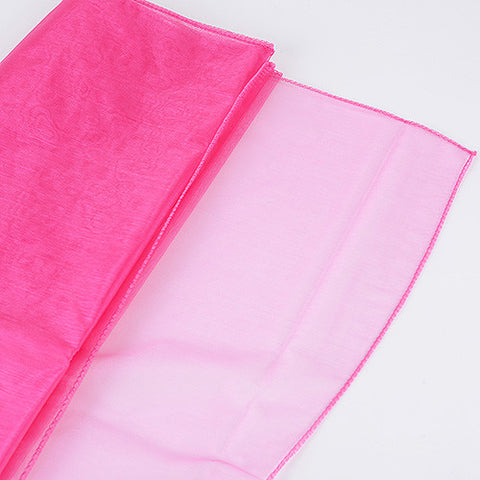 Wedding Organza Fabric Decor Fuchsia ( W: 28 inch | L: 216 Inches ) -