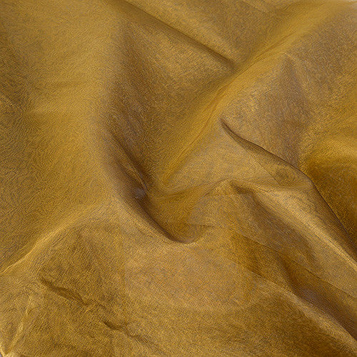 Two Tone Organza Overlays Gold Black ( W: 28 inch | L: 108 Inches )- Ribbons Cheap