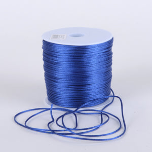 2mm Satin Rat Tail Cord Royal Blue ( 2mm x 100 Yards ) - Ribbons Cheap