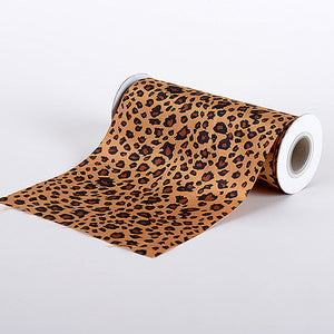 Animal Printed Satin Spool Cheetah ( W: 6 inch | L: 10 Yards ) - Ribbons Cheap