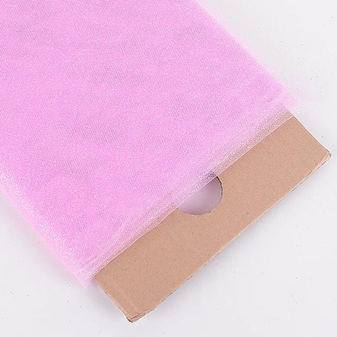 Pink Premium Glitter Tulle Fabric ( W: 6 inch | L: 25 Yards ) -