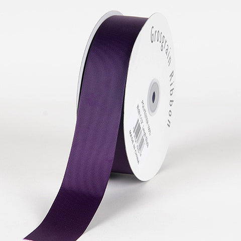 Grosgrain Ribbon Solid Color Plum ( W: 3/8 inch | L: 50 Yards ) -