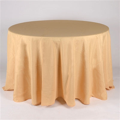 Gold 108 Inch Round Tablecloths  ( 108 inch | Round )- Ribbons Cheap