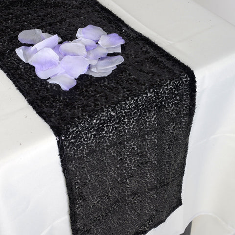 Black Duchess Sequin Table Runner- Ribbons Cheap