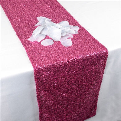 Fuchsia Duchess Sequin Table Runner- Ribbons Cheap