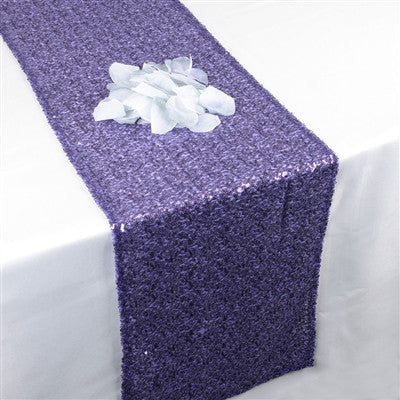 Purple Duchess Sequin Table Runner- Ribbons Cheap