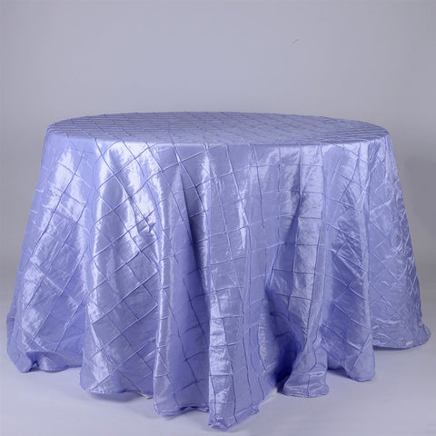 Lavender  132 inch Round Pintuck Satin Tablecloth- Ribbons Cheap