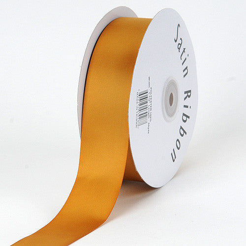 Satin Ribbon Single Face Old Gold ( 1/4 inch | 100 Yards )