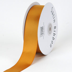 Satin Ribbon Single Face Old Gold ( W: 3/8 inch | L: 100 Yards ) -