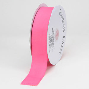 Grosgrain Ribbon Solid Color Hot Pink ( W: 3/8 inch | L: 50 Yards ) -