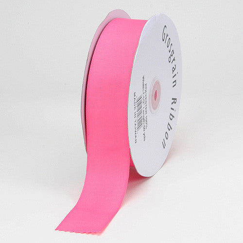 Grosgrain Ribbon Solid Color Hot Pink ( W: 3/8 inch | L: 50 Yards )