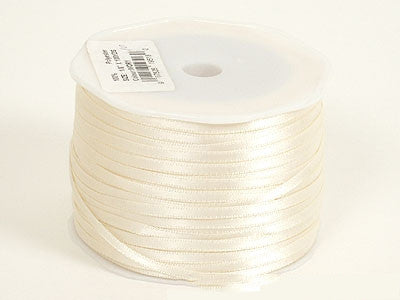 Satin Ribbon 1/16 x 100 Yards Ivory ( W: 1/16 inch | L: 100 Yards )