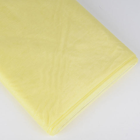 Organza Fabric Bolt (10 Yards) Baby Maize -