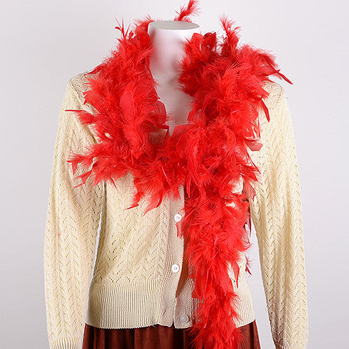 Feather Boas Red ( 2 Yards Boa )