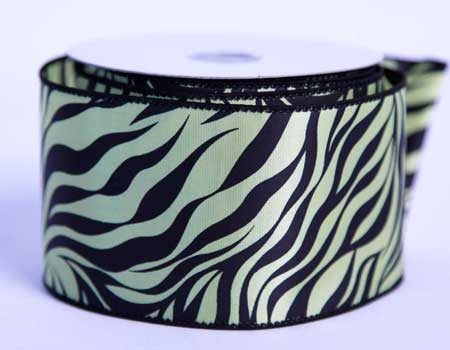 Satin Ribbon Animal Print Daffodil ( 2-1/2 inch | 10 Yards )