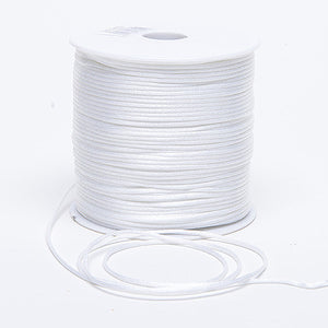 3mm Satin Rat Tail Cord White ( 3mm x 100 Yards ) -