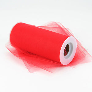 Red Premium Tulle Fabric ( 6 inch | 25 Yards ) -